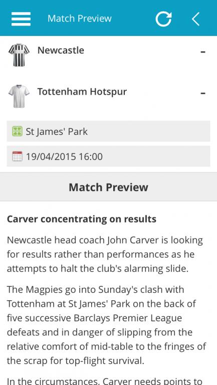 Premier League Match Preview Report