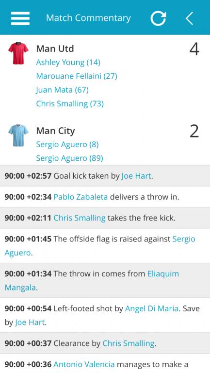 Man Utd v Man City Match Commentary