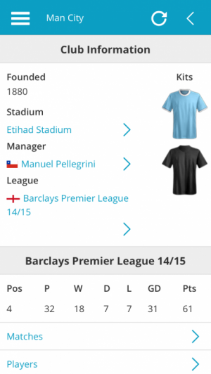 Man City club information