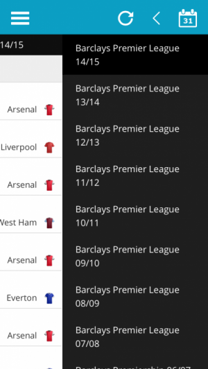Select Previous Premier League Season