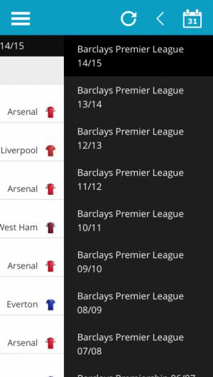 Select Previous Premier League Season