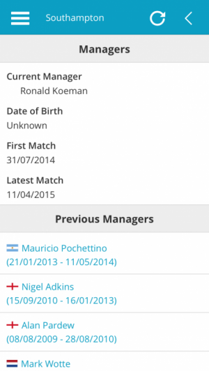 Southampton FC Current Manager and List of Previous Managers