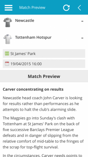Premier League Match Preview Report