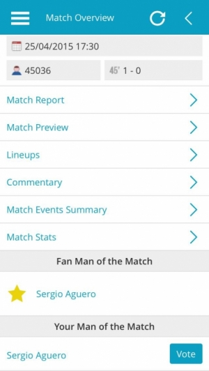 Man City v Aston Villa, Match Overview with Man of The Match vote result