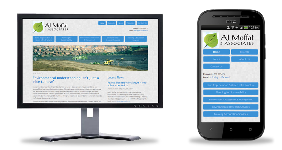 AJ Moffat & Associates - Futuresys, Responsive Web Design