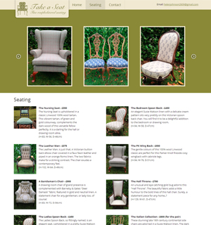Take a Seat - Fine Reupholstered Seating
