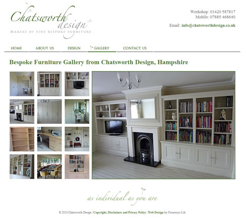 Chatworth Design, Bespoke Furniture page