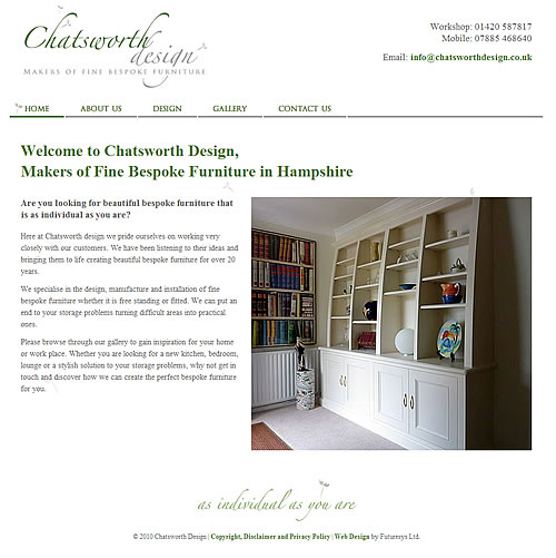 Chatsworth Design Home Page