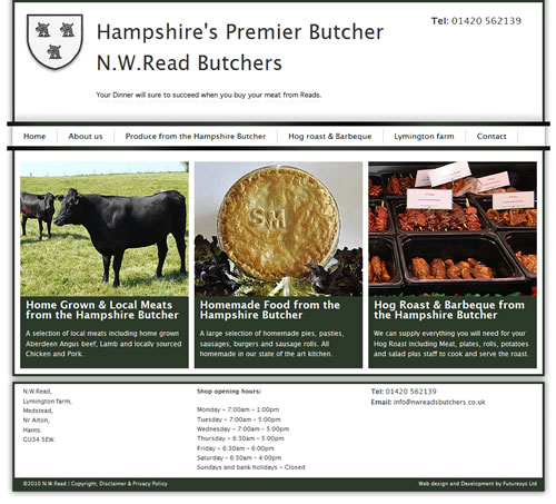 Hampshire Butcher Website