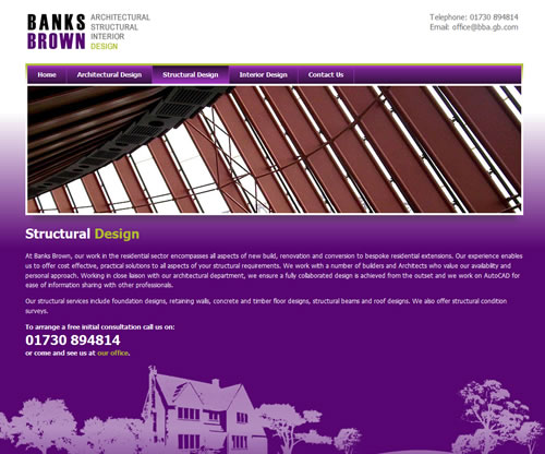 Banks Brown, Structural Design Page