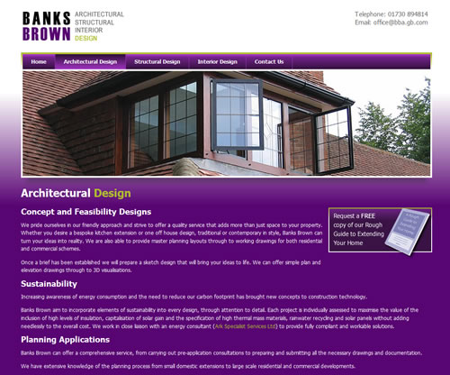 Banks Brown, Architectural Design Page